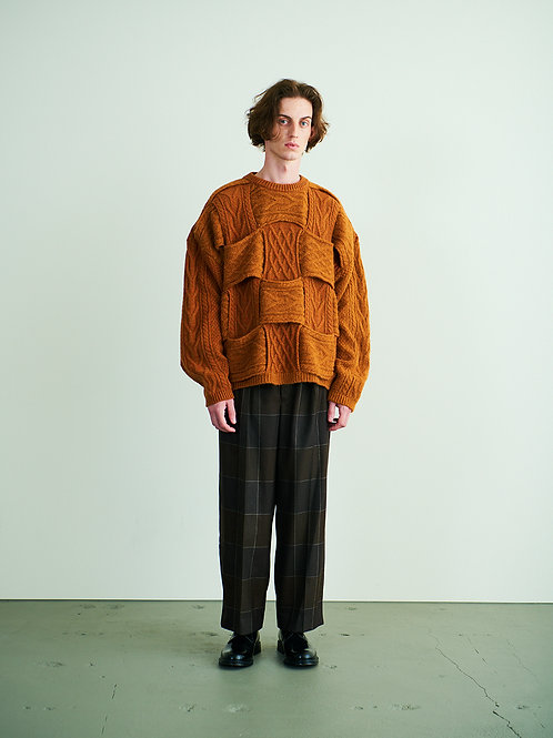 CROSSING CABLE CREW NECK KNIT