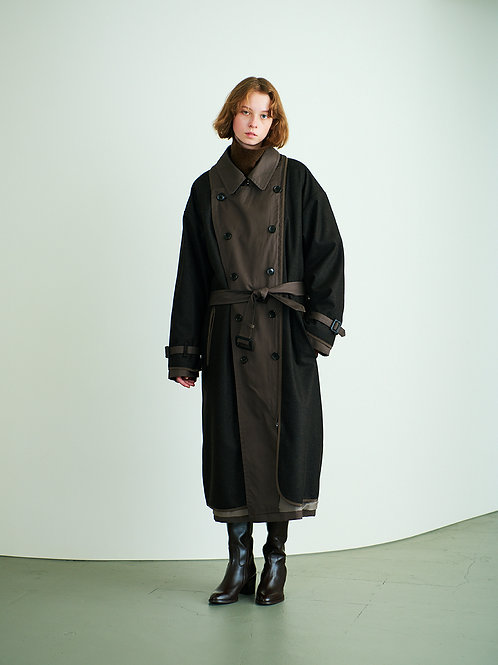 REVERSIBLE TRANCH COAT