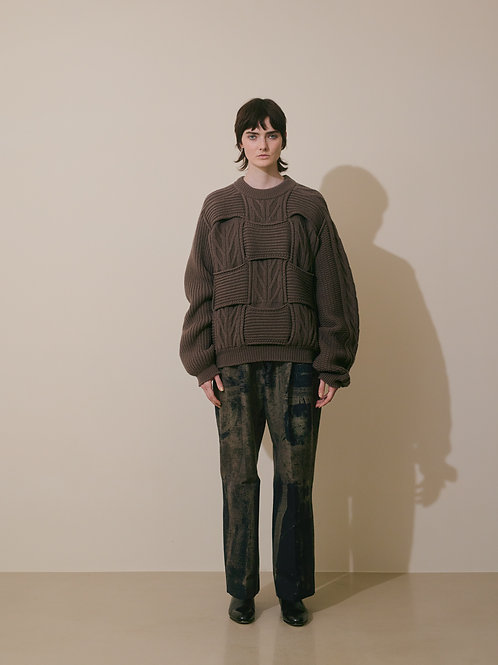 ROTHKO JQ 4TUCK BELTED TROUSERS