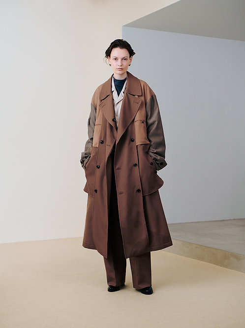 RIVERSIBLE DOUBLE-BREASTED COAT