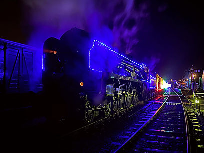 34027 Taw Valley during the Steam in lig