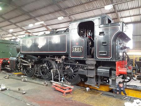 1501 receiving attention at Bridgnorth loco works credit Martin White (Copy).jpg