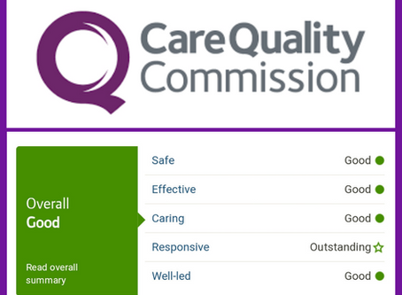 Great news from CQC!