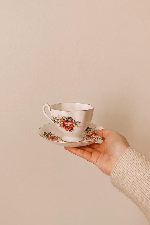 Tasse à thé fleurie - England