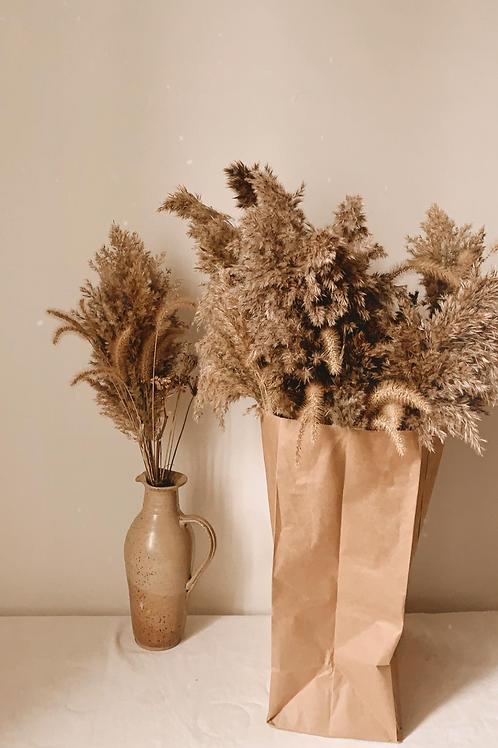 Bouquet d'herbes sauvages séchées