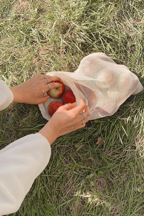 Trio sacs filet à fruits et légumes