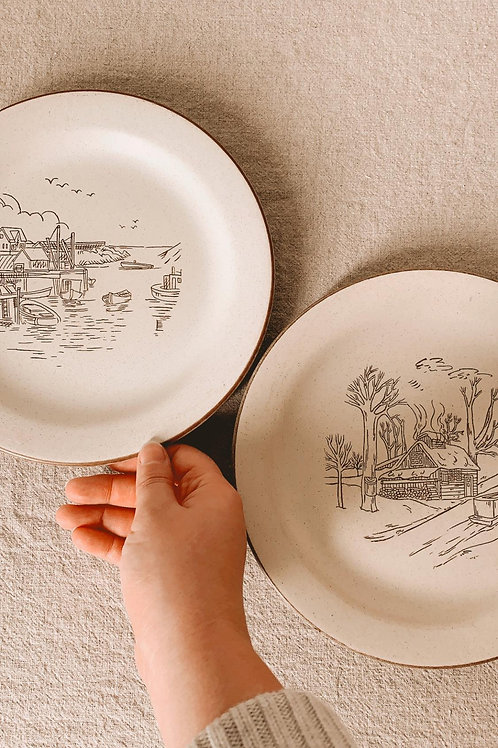 Duo petites assiettes faites mains