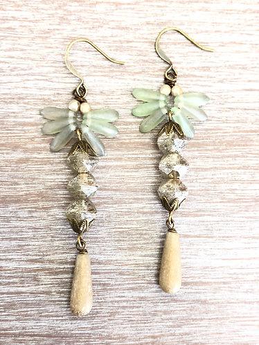 Long Flutter Earrings In Celadon