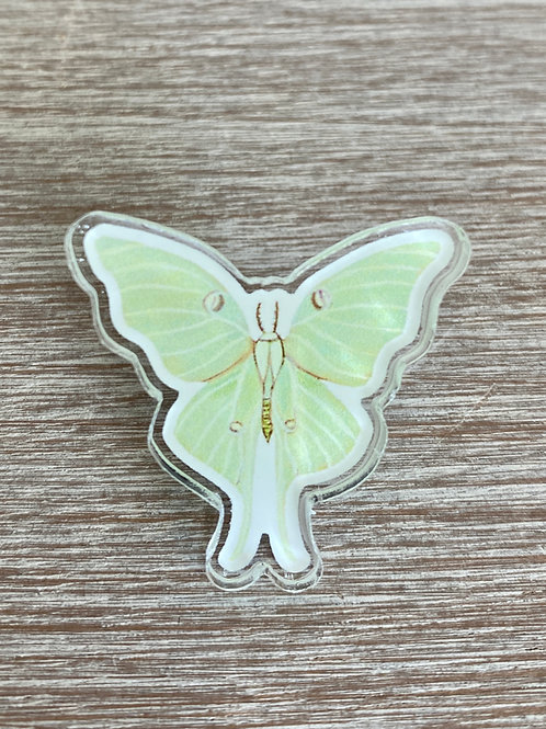 Luna Moth Acrylic Pin
