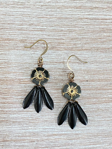 Night Flower Earrings