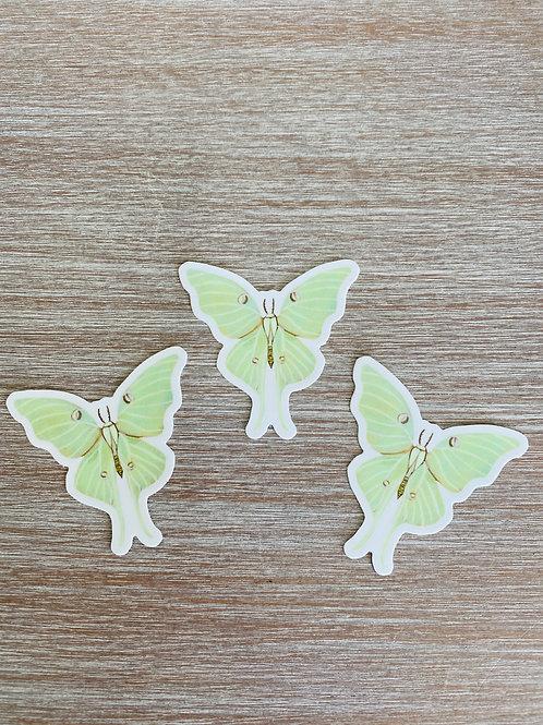Luna Moth Vinyl Sticker