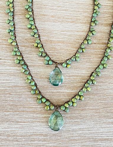 Spring Green Quartz with Green Lava Crystal