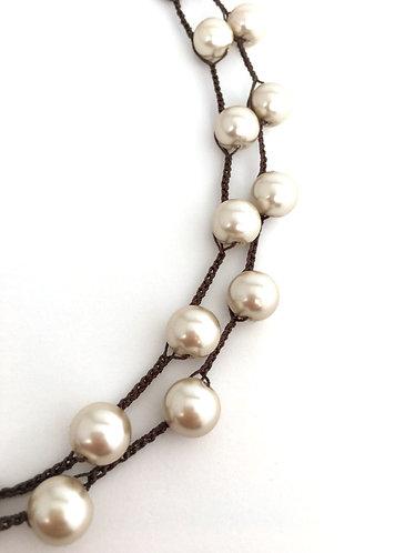 Farm Wedding, Beach Wedding, Honeymoon Jewelry, Bridal, Vintage, Twist Style, Crocheted jewelry