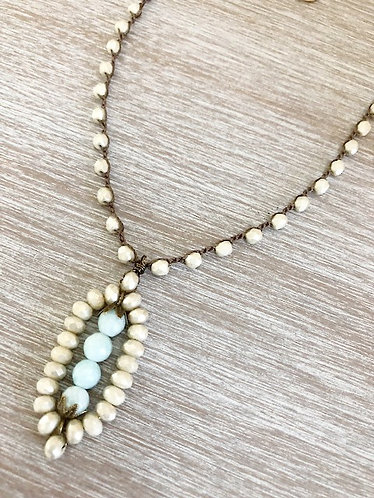 Art Deco Pendant and Crystal Necklace