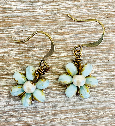 Beach Bloom Earrings in Pale Blue