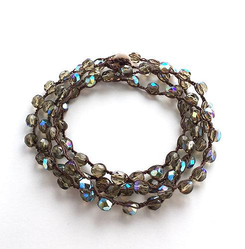 wrap bracelet, necklace, stacking bracelet, handmade, crocheted jewelry, twist style, maryellen kim