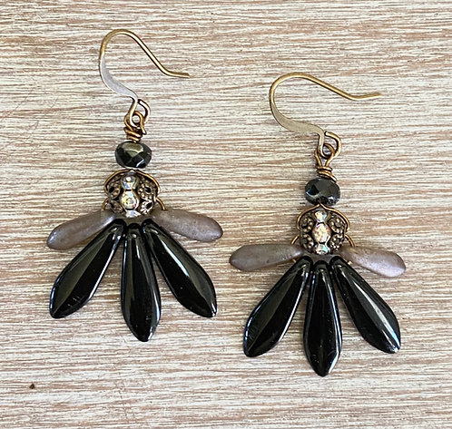 Sparkling Thorn and Dagger Earring
