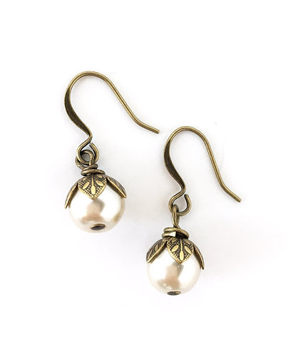 Vintage Style, Bridal Jewelry, Twist Style, Maryellen Kim, Bridal Earrings, Pearl Earrings, Maryellen Kim, Twist Style