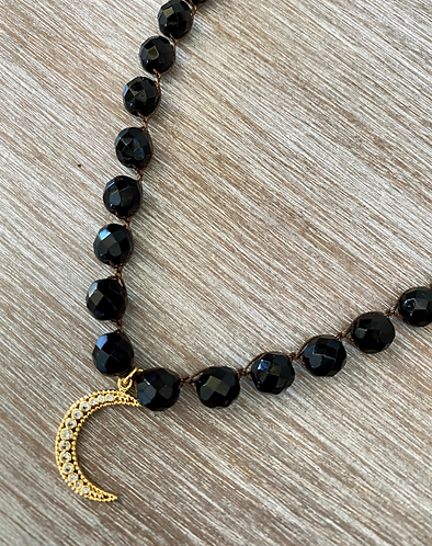Cosmic Night Moon Necklace