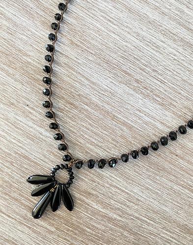 Black Thunderbird Crystal Necklace