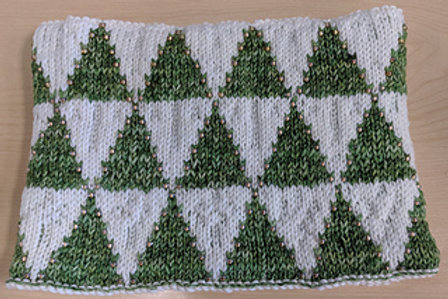 Christmas Trees Reversible Cowl pattern only