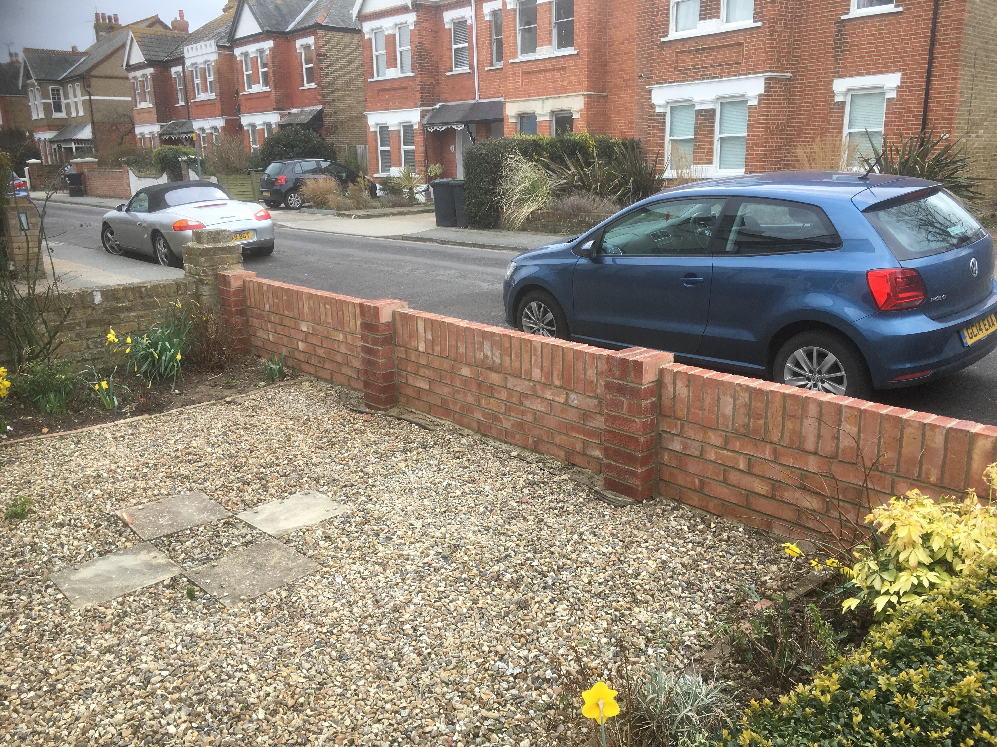 Tudor brick garden wall
