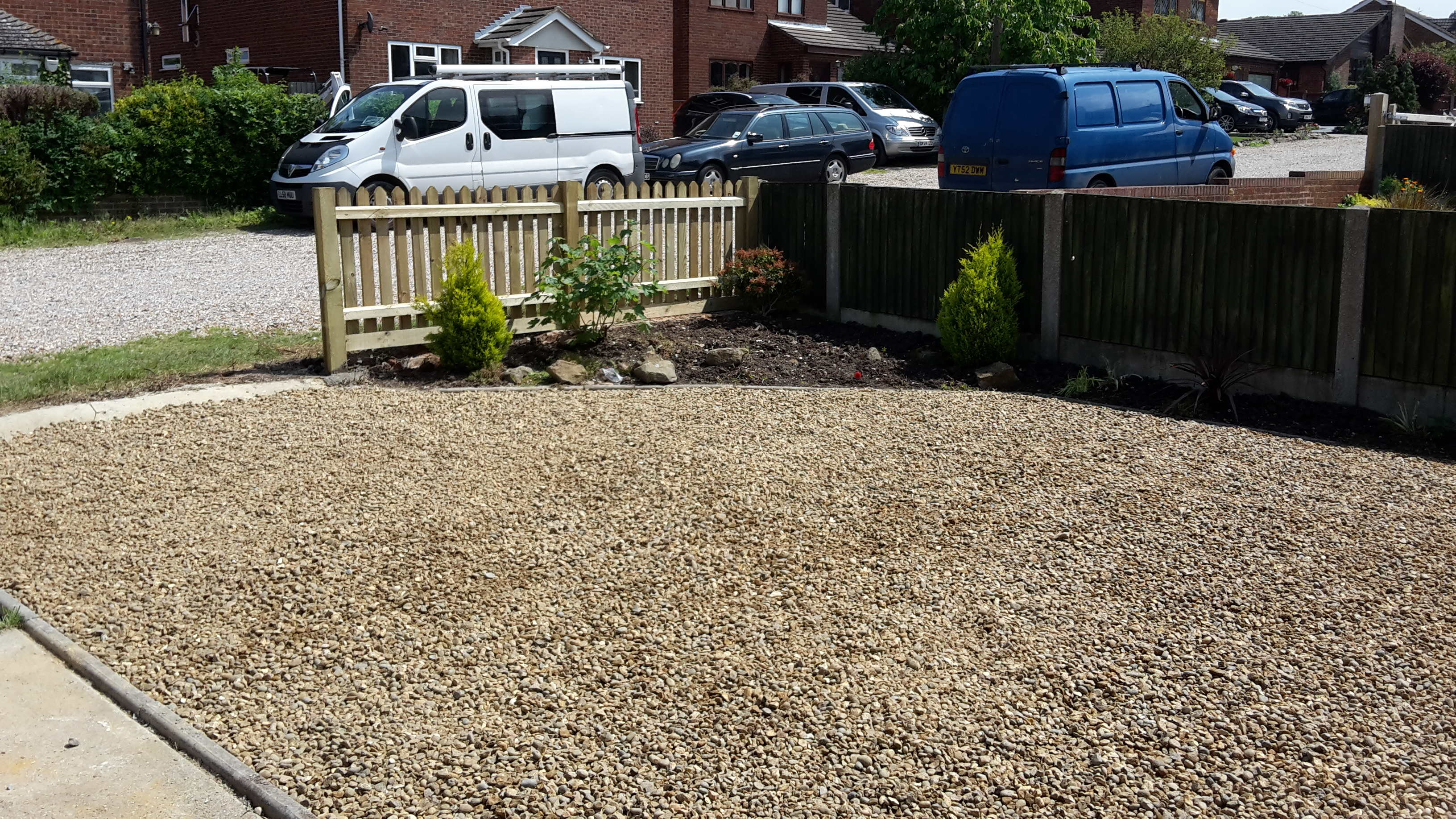 Shingle Driveway and Landscaping