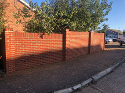 Brick Wall with Piers