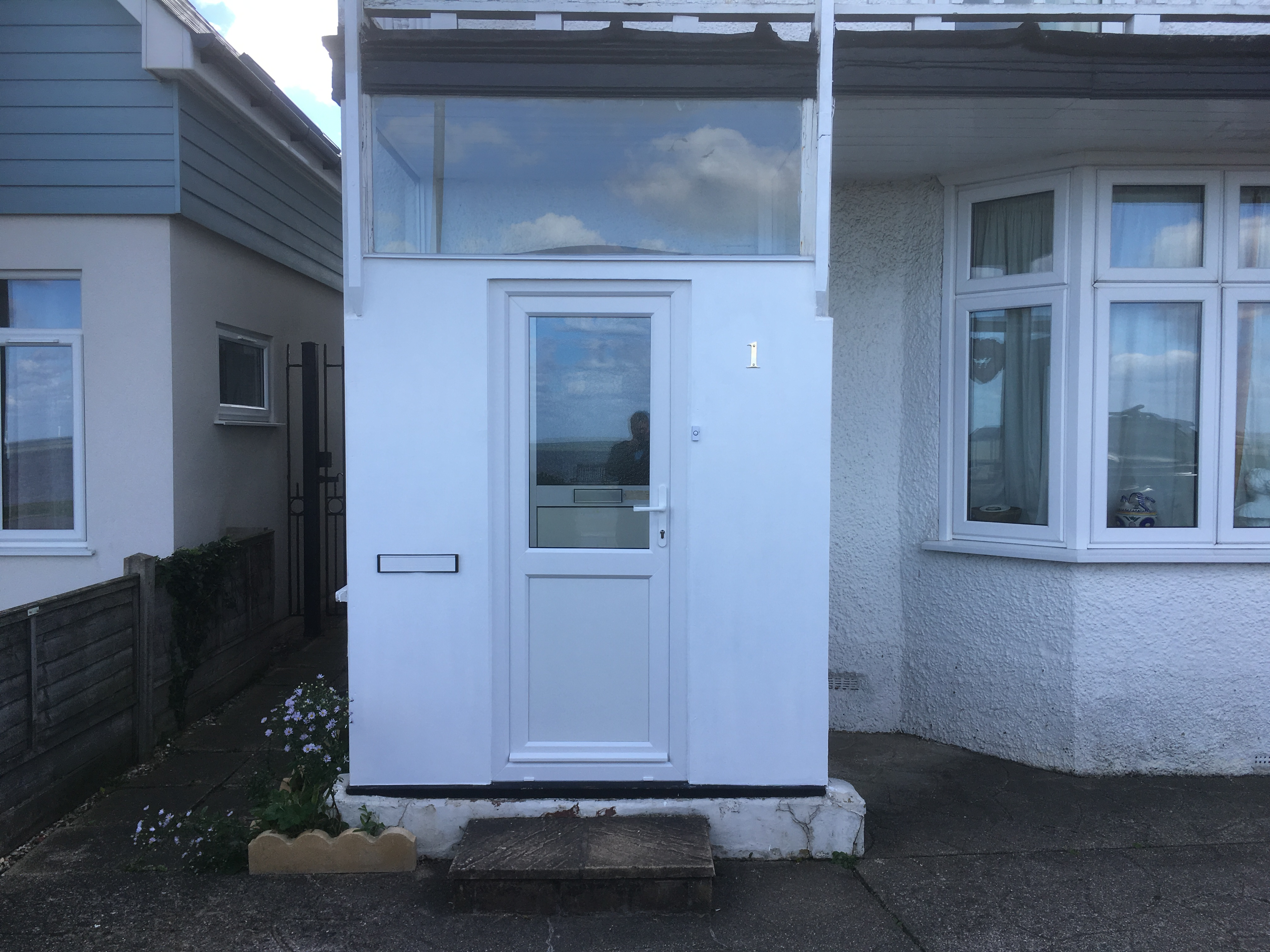 Custom Porch and Front Door Install