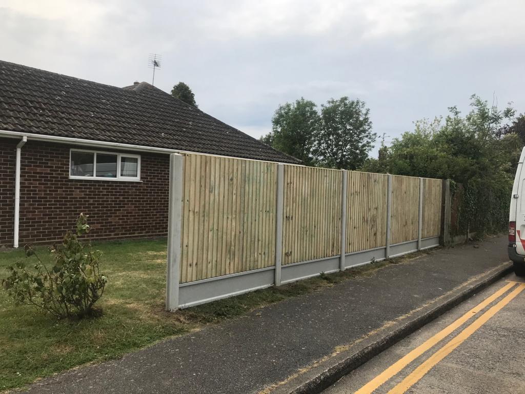Close Board Fence Installation