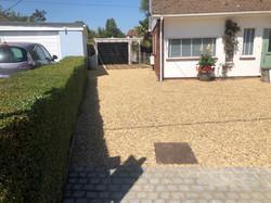 Golden Gravel Driveway