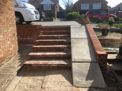 Brick Steps and Concrete Slope