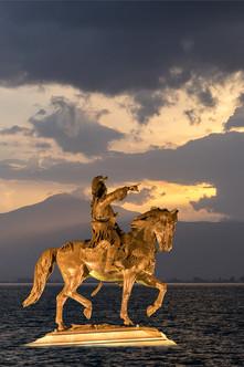 Griechischer Held träumt von Eroberungen.