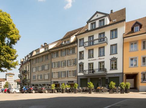 Diese Häuserzeile in Olten entspricht noch weitgehend der spätantiken Kastellmauer.