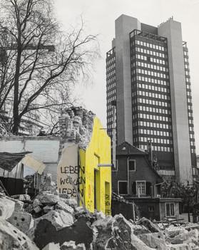1981 Abbruchbaustellen, Ruinen – coloriert