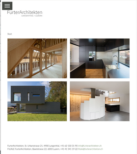 2018 Website FurterArchitekten Langenthal + Luzern