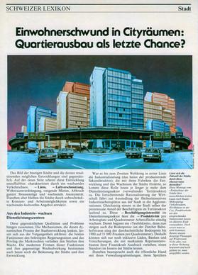 """1993 Illustration """"Stadt der Zukunft"""""""