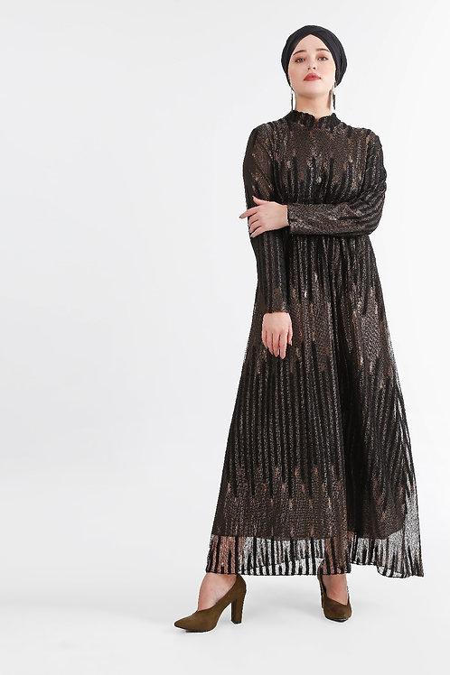 שמלת ערב מוזהבת יפהפיה מידה גדולה