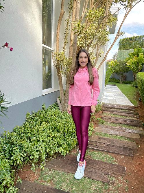 Jaqueta corta vento color  (rosa)
