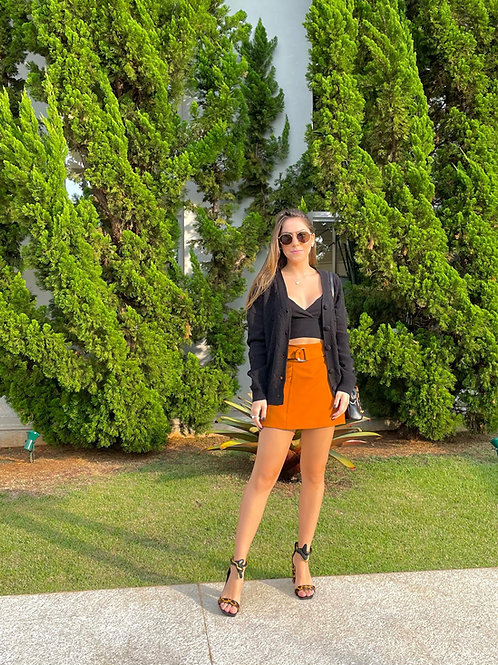 Shorts Saia Jade  (caramelo)