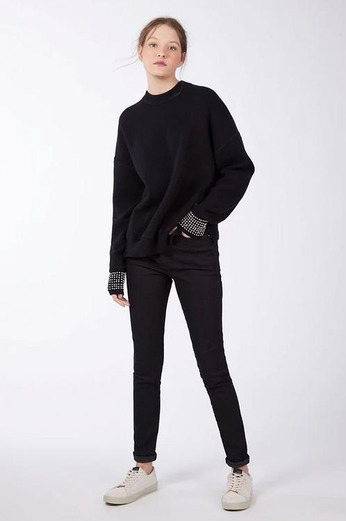 Calça basic skinny long jeans amaciado