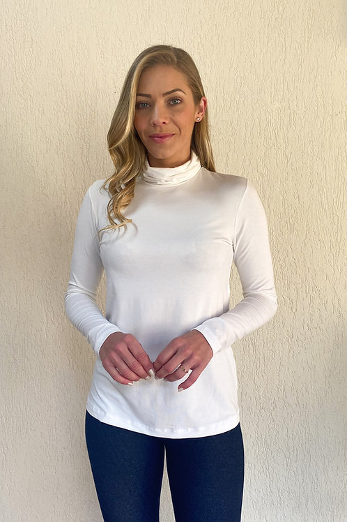 Blusa Tati gola alta (branca)