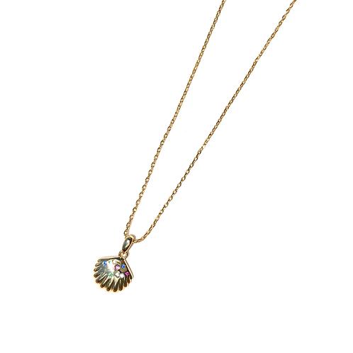 Colar conchinha rainbow (ouro)