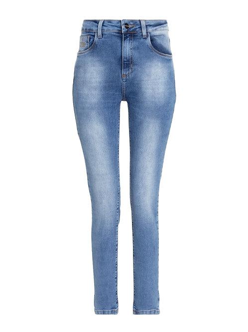 Calça Paula alta geneva (jeans claro)