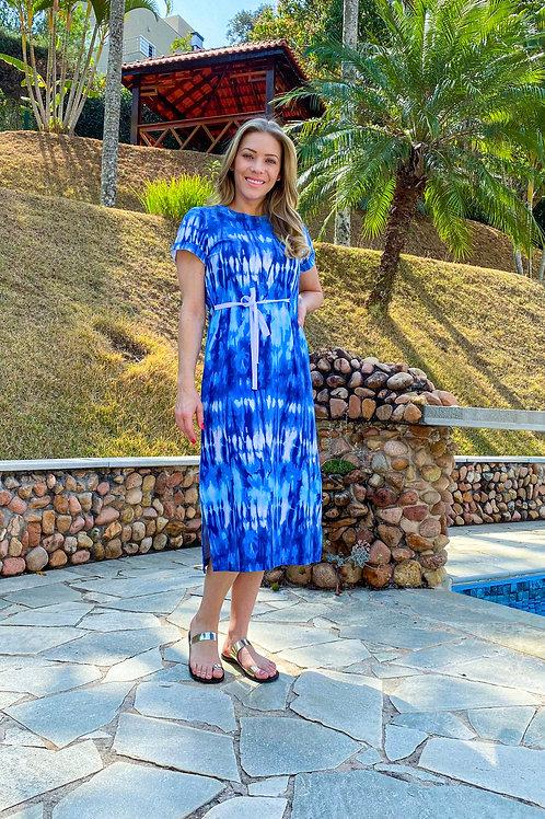 Vestido Agnes (tie dye azul)