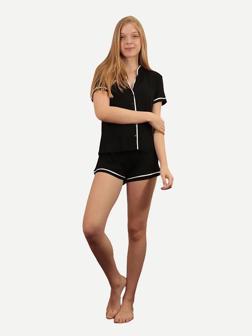 Pijama Bella curto (preto)