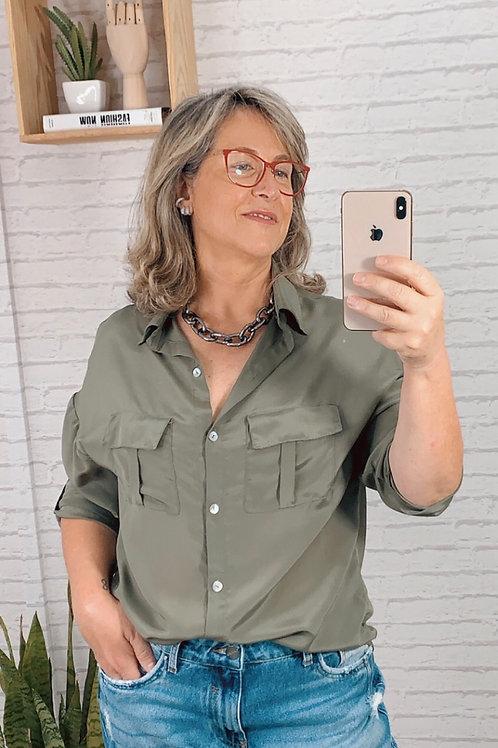 Camisa Uli (verde militar)