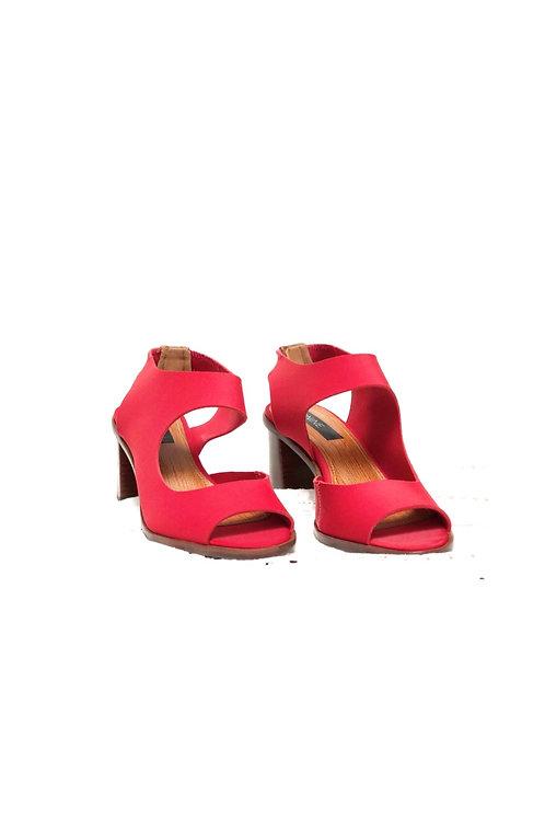 Sandália neoprene vermelha