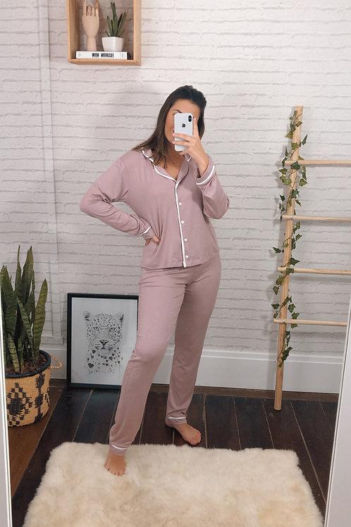 Pijama Bella (rosa blush)