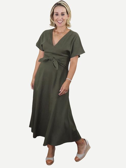 Vestido Leila (verde musgo)